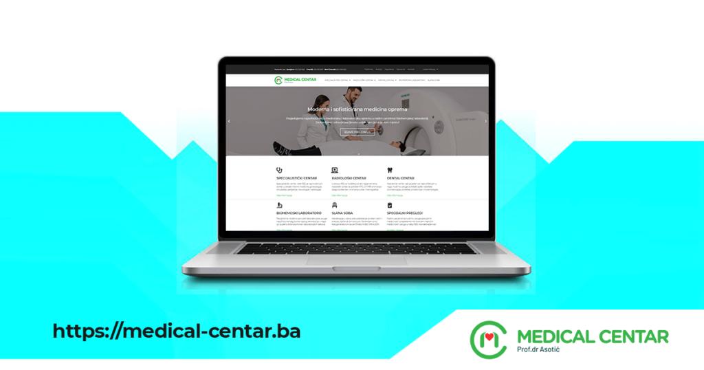 Nova web stranica MEDICAL CENTRA